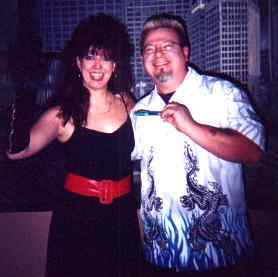 Cindy with Dave of Benatar Fan Club